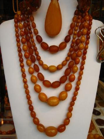 antique amber beads